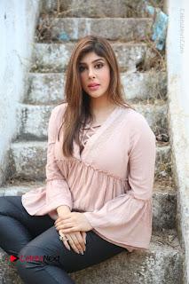 Telugu Actress Aditi Singh Stills in Leather Pants at Nenu Kidnap Iyanu Movie Press Meet  0183.JPG