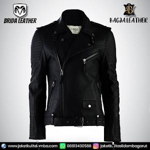 Jual Jaket Kulit Asli Garut Pria Domba Original Brida Leather B40 Ramones Reasing   WA 08813430588