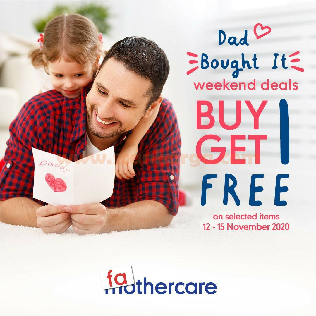 Promo MOTHERCARE Weekend Deals Buy 1 Get 1 Free*