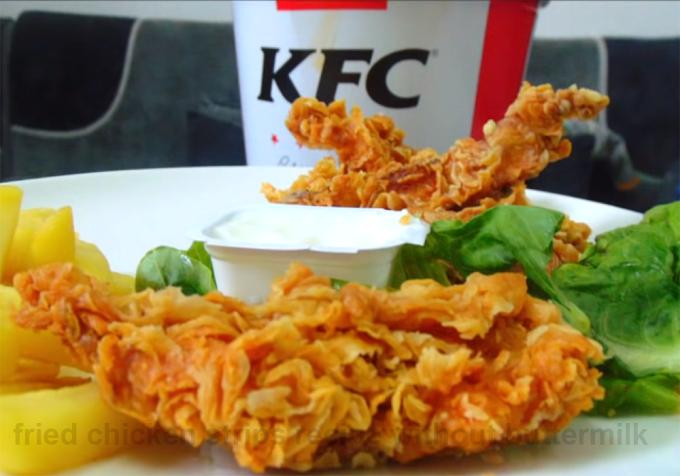 Secrets of KFC | Fried chicken strips recipe without buttermilk | Cooksbeautiful