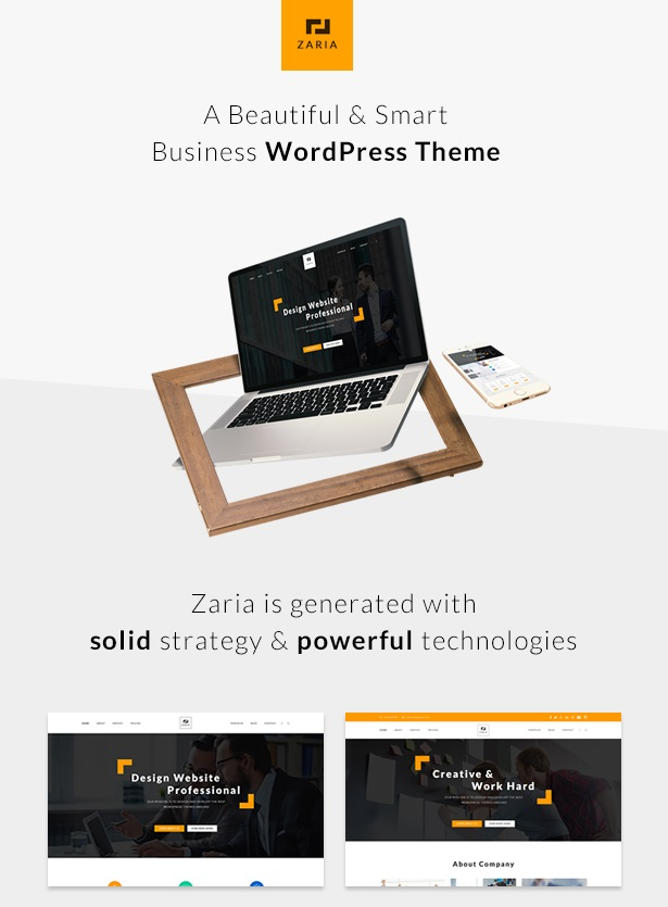 Business Responsive WordPress Theme Review - Zaria