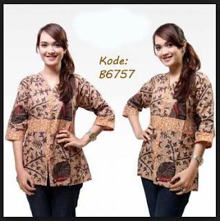 Desain model baju batik untuk wanita