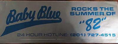 Baby Blue bumper sticker 1982