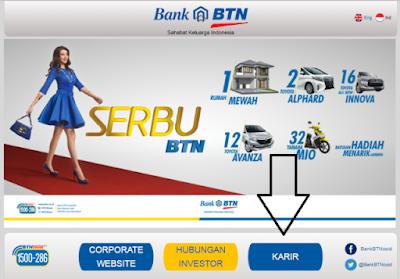 Cara daftar kerja di website bank BTN