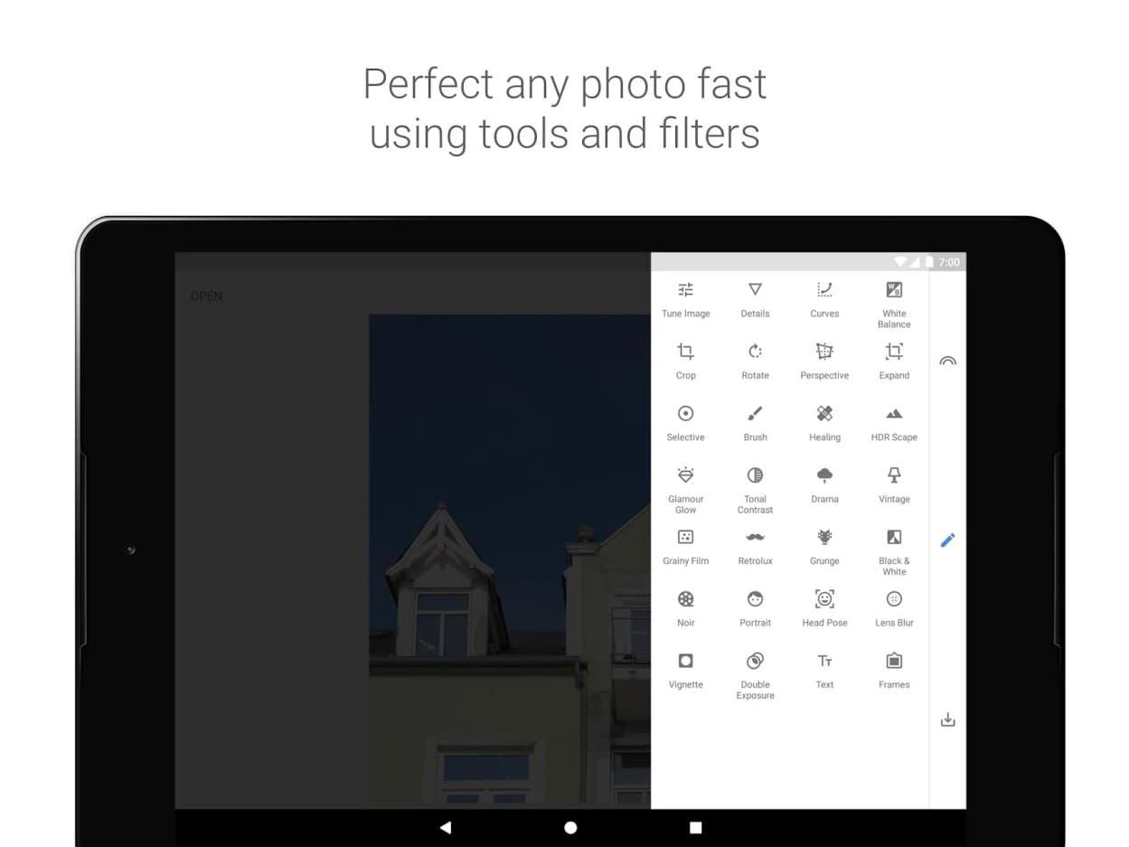 aplikasi edit foto terbaik, Snapseed