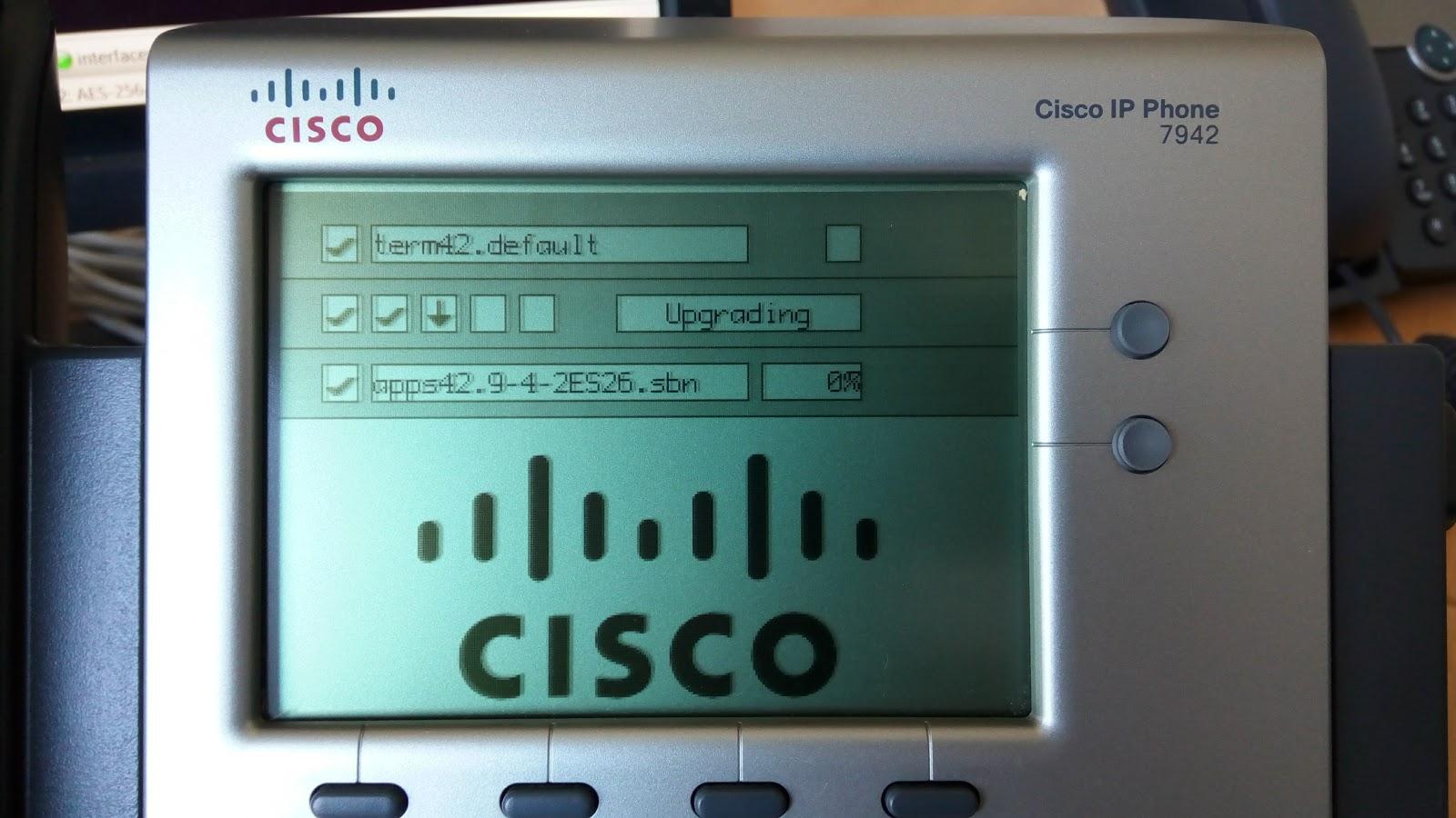 Cisco 7942 Manual Firmware upgrade