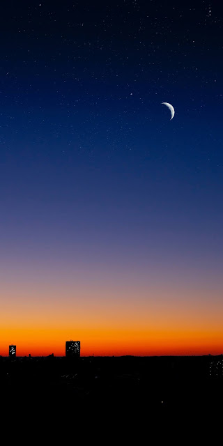 Bầu trời đêm sau hoàng hôn