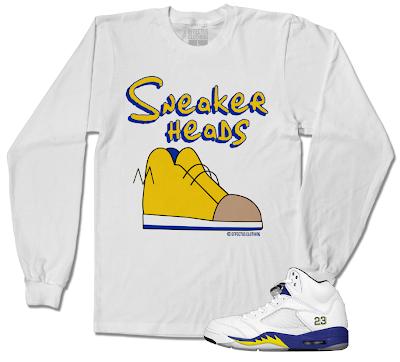 bf23a37c1d76 Crewneck Sneaker Shirts to match the Jordan Retro 5 Laney Shoes