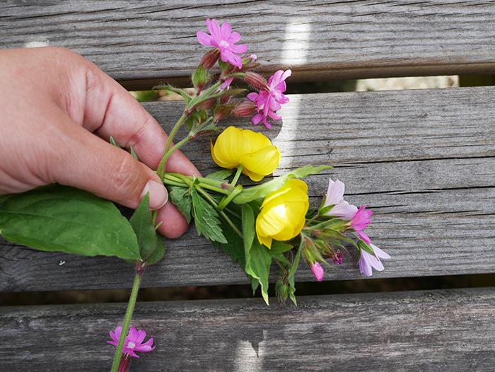 Mittsommer Blumenkranz Step 3