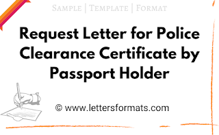sample request letter for police clearance certificate