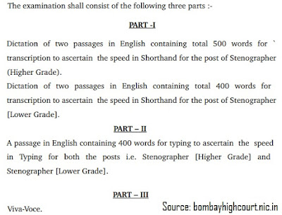 Bombay High Court Stenographer Selection Process