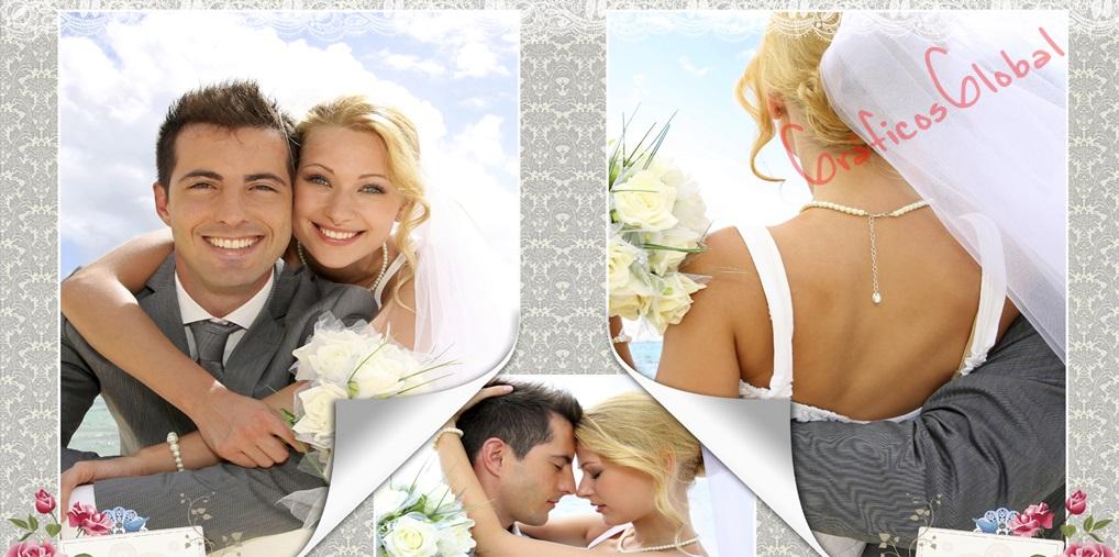 Plantillas psd para crear FotoAlbum bodas No1