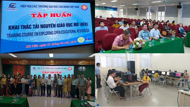 Khóa bồi dưỡng 'Thực hành khai thác tài nguyên giáo dục mở' ở trường Đại học Điện lực, Hà Nội