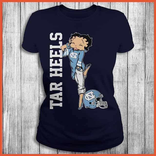 North Carolina Tar Heels Betty Boops T-Shirt