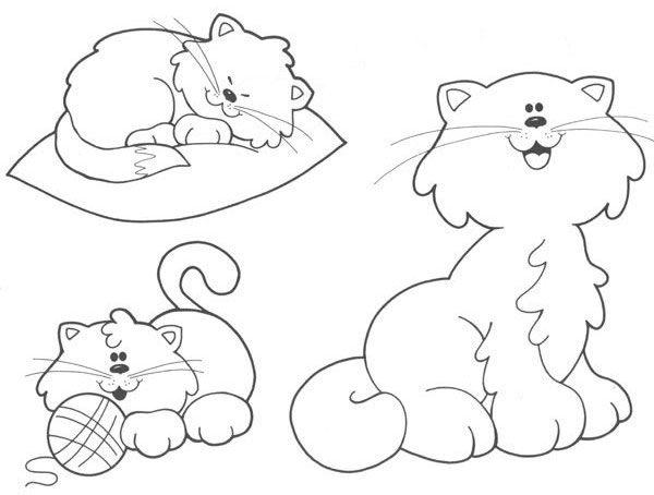 Dibujos Para Colorear De Gatitos Bebes: Bellos Momentos: GATITOS PARA COLOREAR