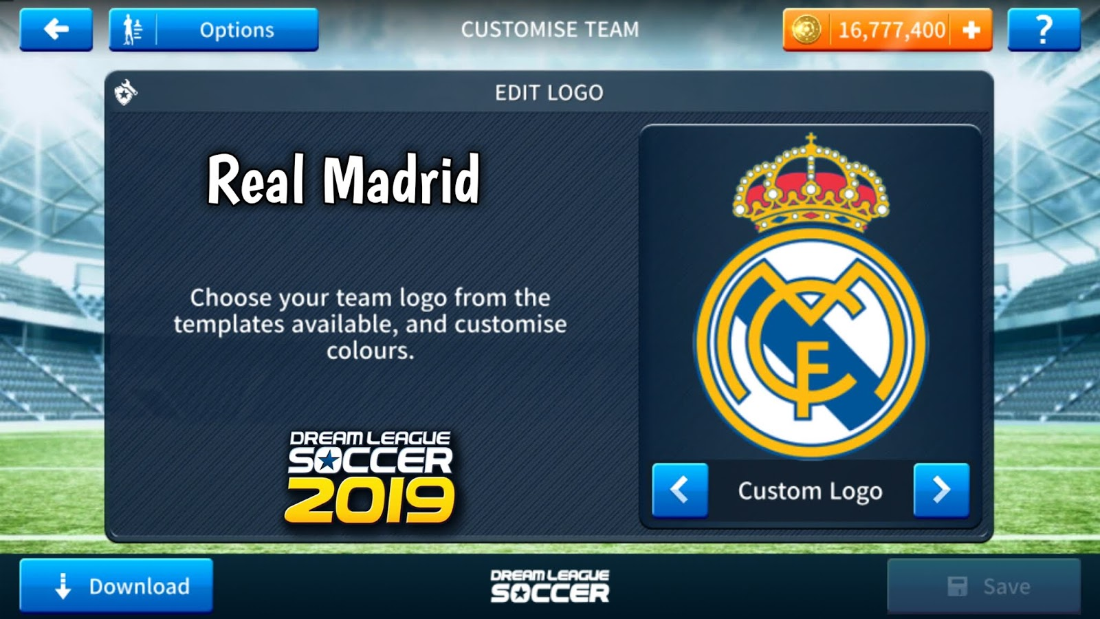 86d6215b124 Real Madrid Logo   Kits For Dream League Soccer