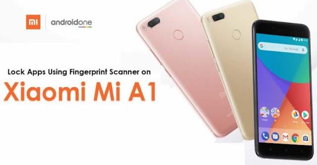 cara mengunci aplikasi di Mi A1 dengan fingerprint