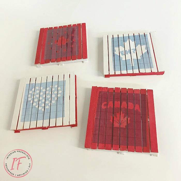 Canada Day Mini Pallet Idea