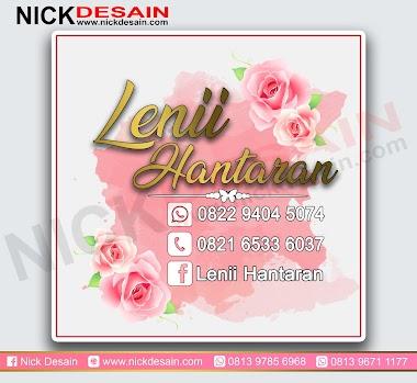 Contoh Desain Stiker Label Hantaran Wedding Warna Pink - Percetakan Tanjungbalai