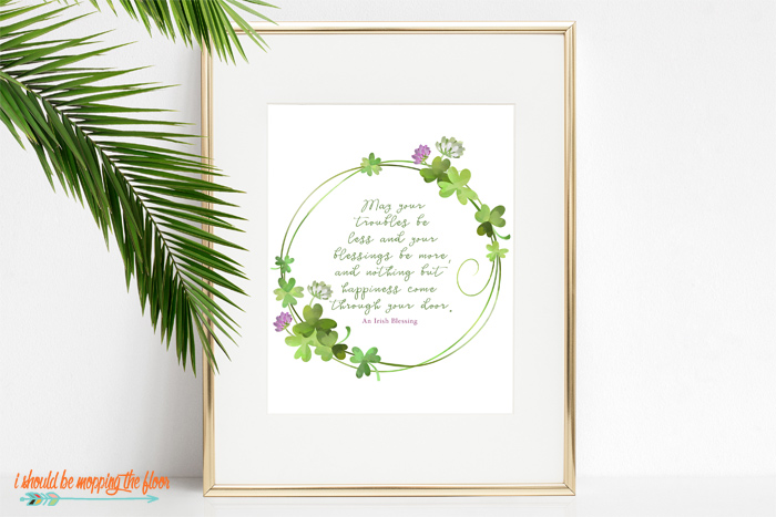 Free Irish Blessing Printable