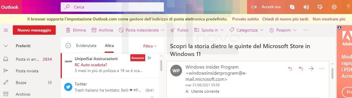 Puoi impostare Outlook.com come app predefinita per le mail in Windows 10 e Windows 11