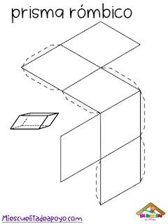 Cuerpos geométricos para armar en cartulina