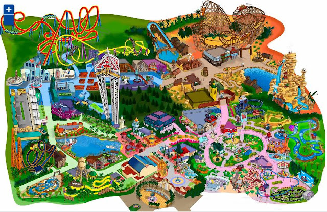 mapa parque warner madrid