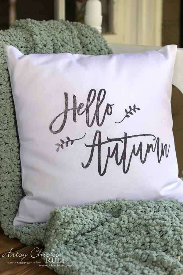 Hello Autumn printable for pillow