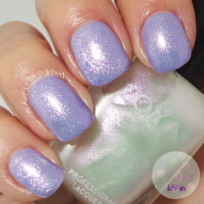 Zoya Petals 2016 - Leia over Aster | Kat Stays Polished