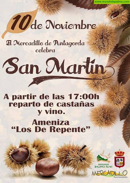 Celebración de San Martín en el Mercadillo del Agricultor de Puntagorda