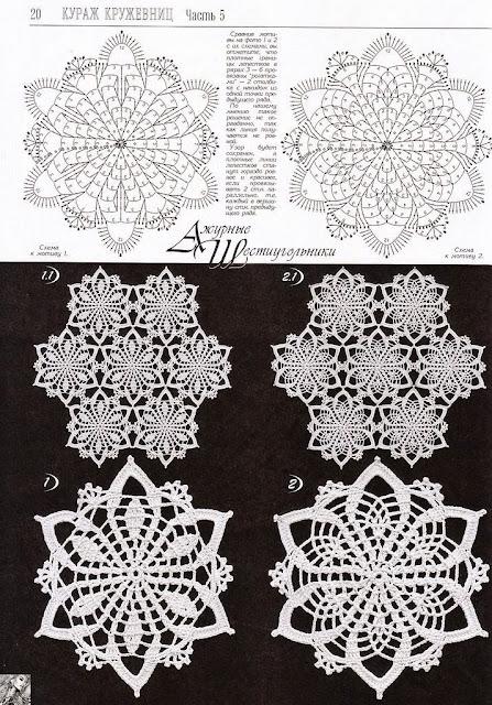 elementy szydelkowe wzory
