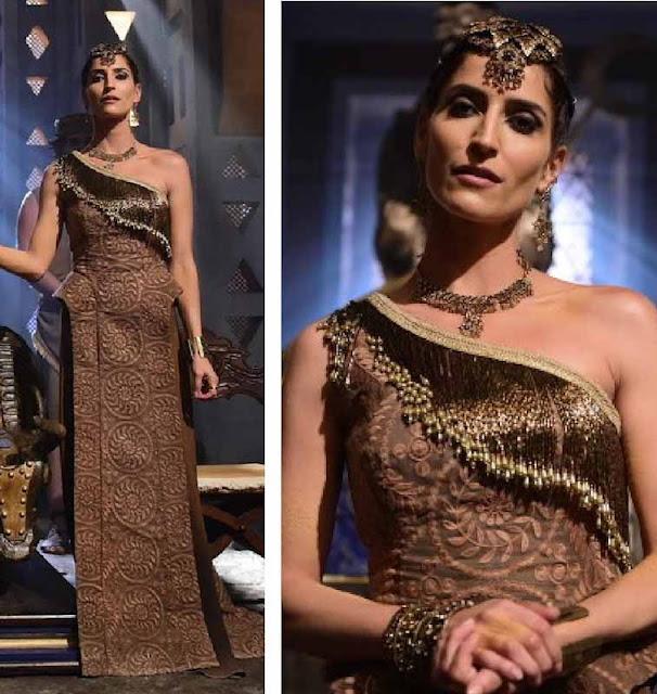 Vestido marrom da rainha Enlila