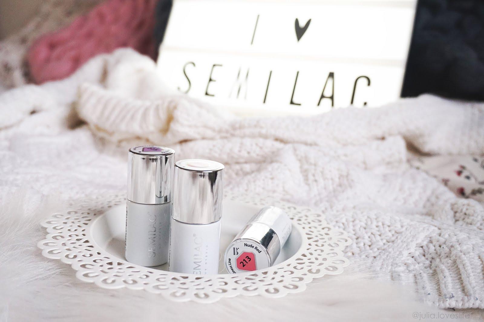 Zimowy manicure z Semilac | opinia o lakierach + prezentacja kolorów i pyłków (dużo zdjęć!)