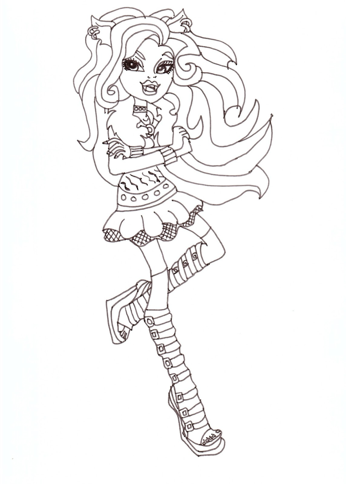 Free Printable Monster High Coloring Pages: Clawdeen