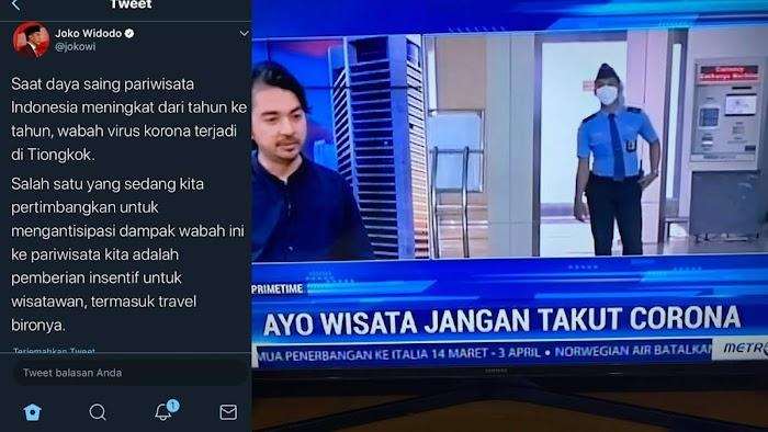 Tweet of The Year! Cuitan Lawas Jokowi Promosikan Pariwisata di Tengah Corona