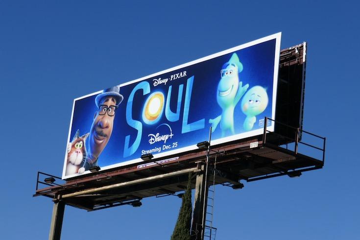 Disney Pixar Soul film billboard