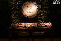 casamento no espaço três figueiras salão gold em porto alegre com organização projeto e cerimonial de life eventos especiais decoração boho chic com porcelana portuguesa em tons de azul e branco
