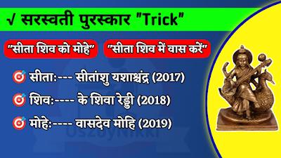 सरस्वती सम्मान 2017 - 2019 Trick से