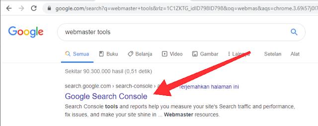 tutorial blog foto google search console