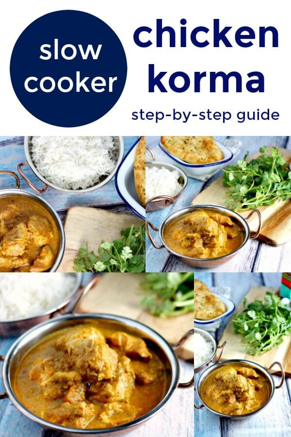 step by step slow cooker chicken korma