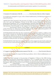 Special Resolution under Regulation 17(6)(ca) of SEBI (LODR)