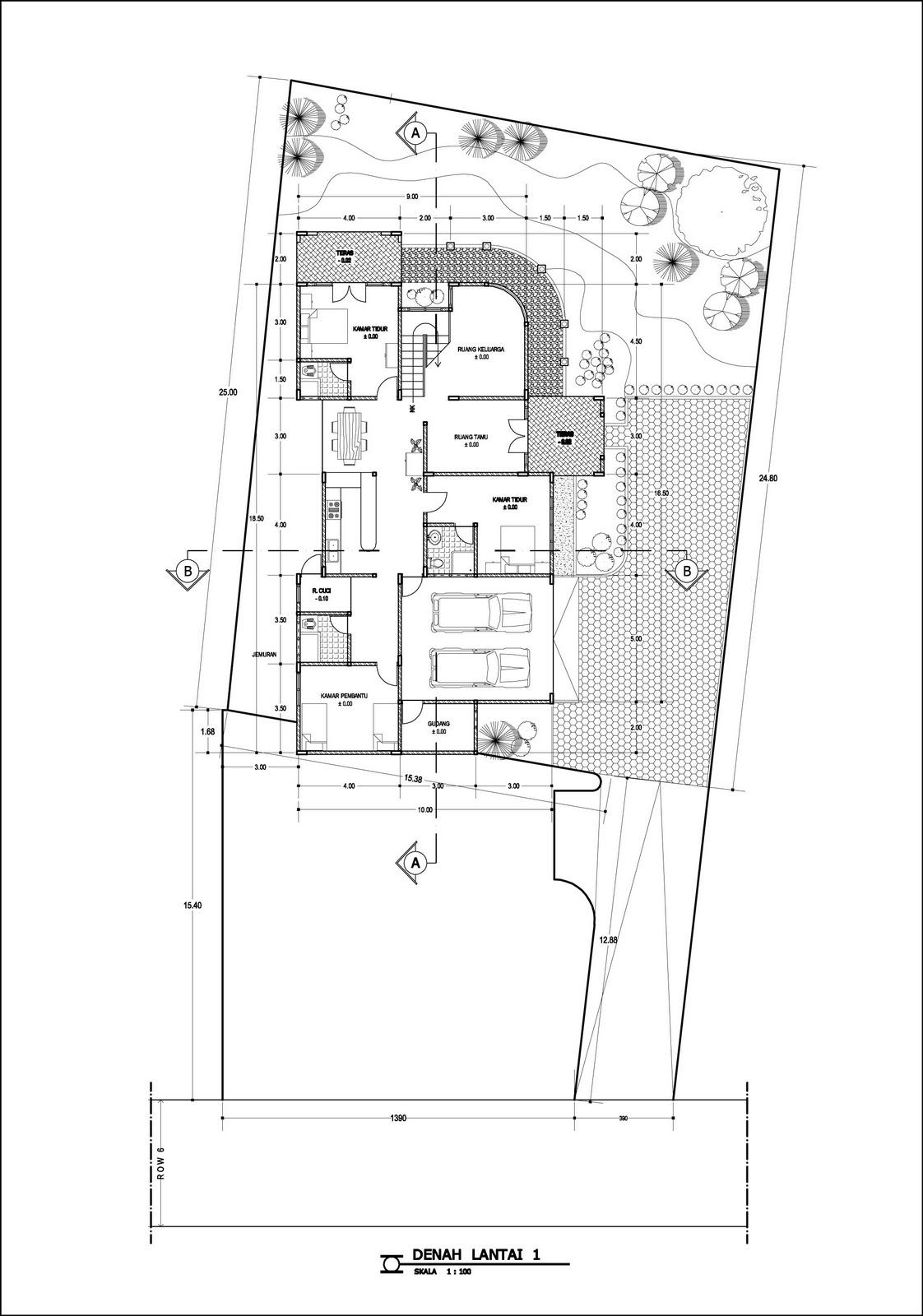 Panduan Bangunan Rumah: Contoh Desain Rumah: DENAH RUMAH