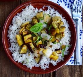 Rice And Eggplant Bowl