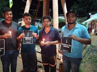 मोरडोंगरी के युवाओं ने निकाली आक्रोश रैली