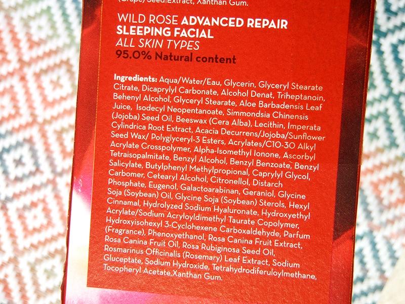 Korres wild rose face mask, wild rose sleeping mask