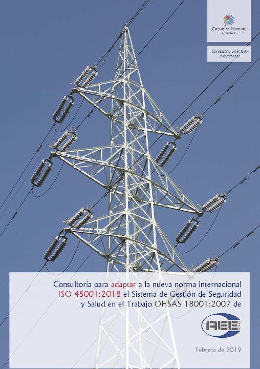 Portada del contrato por el que Cuevas y Montoto Consultores ayudará a AEE Power a adaptar su Sistema de Gestión de Seguirdad y Salud en el Trabajo a la nueva norma ISO 45001