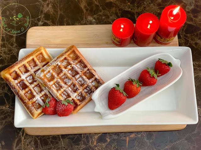 කන්ඩෙන්ස්ඩ් මිල්ක් වෝෆල්ස්  (Condensed Milk Waffles) - Your Choice Way