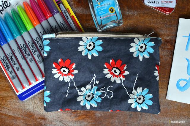 easy to sew zipper bag tutorial
