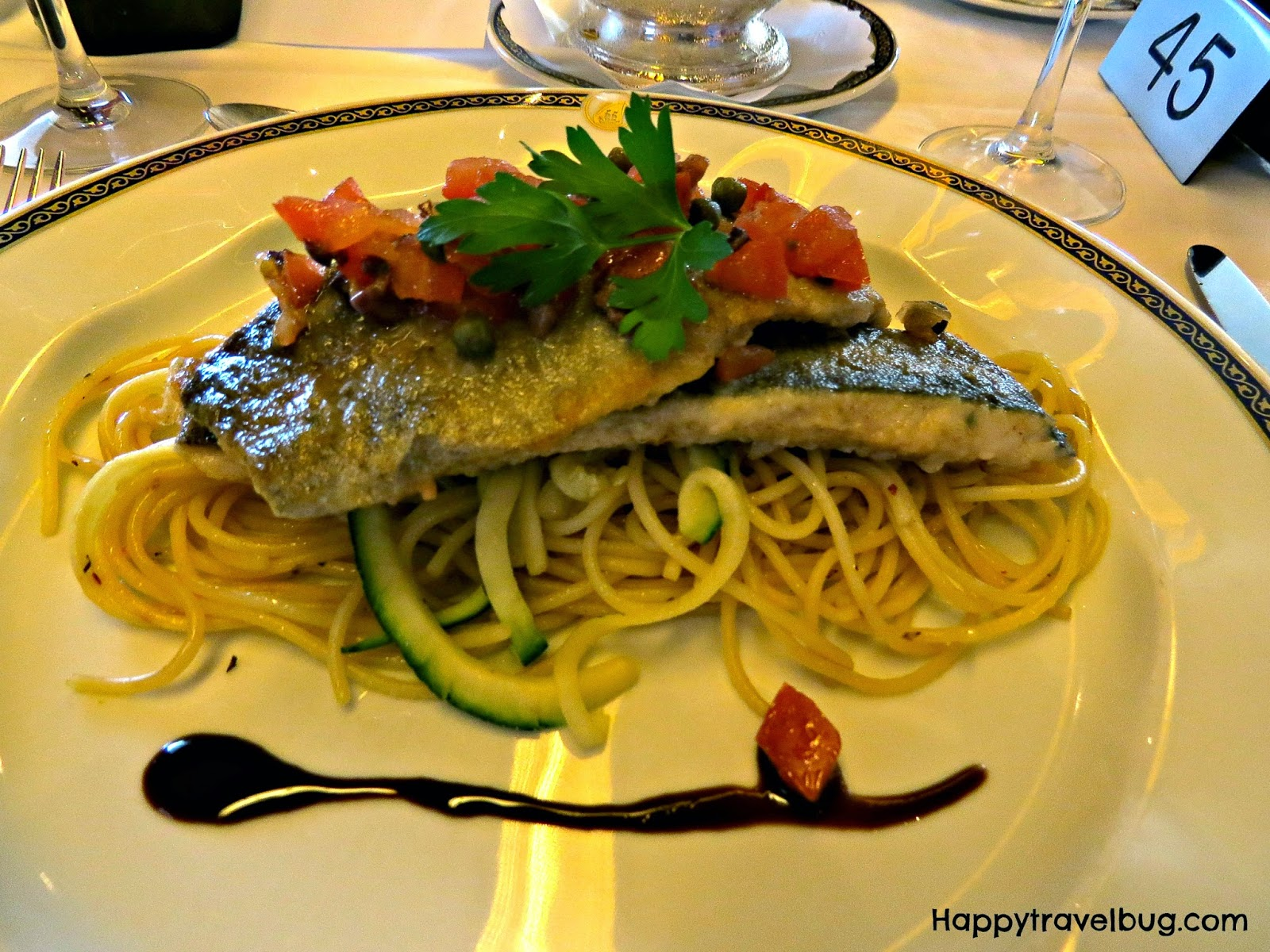Rainbow trout from dinner on our Holland America Cruise