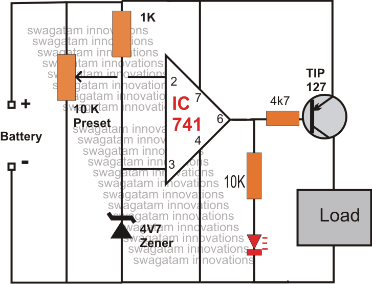 Low Battery Cut-off with Indicator Circuit for Cell Phone